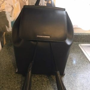 Black Faux Leather Aldo Backpack
